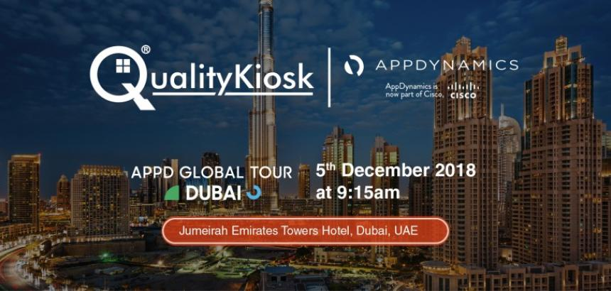QualityKiosk Gold Partner @ Appdynamics Dubai 2018