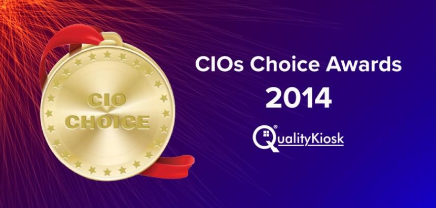"QualityKiosk wins the ""CIO Choice Award 2014 for Software Testing"""